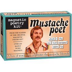 Voor alle snorren liefhebbers. In het doosje zitten meer dan 170 magnetische woorden waarmee je de gekste zinnen kan vormen. Plaats ze op je frigo, bureau of op gelijk welk metalen oppervlak en laat je verrassen door de spontane creaties. Fun verzekerd!