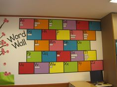 This word wall might just look tidy enough for this OCD teacher to be able to stand it....