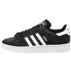 Adidas Campus Mens D70181 Black White Athletic Shoes Casual Sneakers Size 9