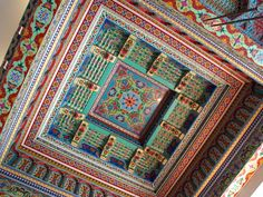 Ceiling in the Dushanbe Teahouse. a.ma.zing.