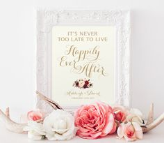 Happily Ever After Sign Various Sizes Personalize