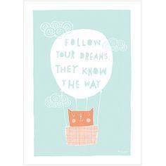 Postais, Papéis e Saquetas : Follow Your Dreams
