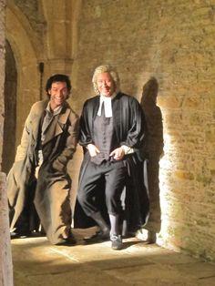 Aidan Turner and Robin Ellis - the two Ross Poldarks!