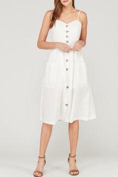 07eef2fdeb2 Stephanie Sweetheart Pocket Dress in Ivory