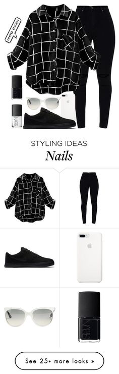 """Limited"" by uunicornns on Polyvore featuring NIKE, Ray-Ban and NARS Cosmetics"