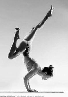 Powerful Black and White Yoga Pose