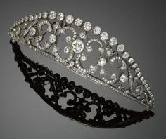 19th century diamond tiara of unknown provenance.  Does anyone know anything about it?