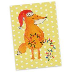 Postkarte Fuchs Weihnachten aus Karton 300 Gramm  weiß - Das Original von Mr. & Mrs. Panda.  Jedes wunderschöne Motiv auf unseren Postkarten aus dem Hause Mr. & Mrs. Panda wird mit viel Liebe von Mrs. Panda handgezeichnet und entworfen.  Unsere Postkarten werden mit sehr hochwertigen Tinten gedruckt und sind 40 Jahre UV-Lichtbeständig. Deine Postkarte wird sicher verpackt per Post geliefert.    Über unser Motiv Fuchs Weihnachten  Die Fox Edition ist eine besonders liebevolle Kollektion von…