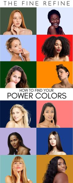 How to Find the COLORS that work best with your haircolor, complexion, skin tone and contrast! How To Better Yourself, Finding Yourself, Hue Color, Colours, Skin Undertones, Power Colors, Find Color, World Of Color, Color Theory
