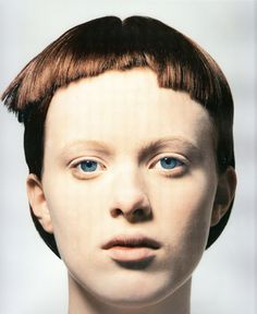 karenphotography david sims heads: hair by guido via zoku