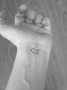 10 tatouages lapins miniatures temporaires / tatouages doigts