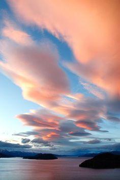 CLOUDS~Lenticular party, Lago Nahuel Huapi, Argentina, photo by Andrea Pozzi, Beautiful Sky, Beautiful World, Beautiful Places, Beautiful Pictures, Landscape Photography, Nature Photography, Lenticular Clouds, Sky And Clouds, Belle Photo