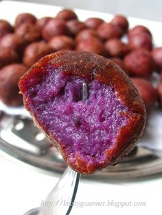 Deep Fried Purple Sweet Potato Balls