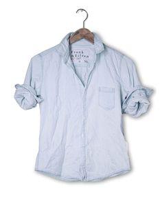 FRANK & EILEEN Barry 90s Stonewashed Indigo Shirt