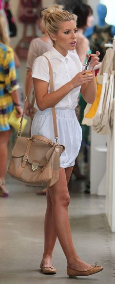 Mollie King looks amazing.  The purse not so amazing!  A Longchamp purse would've been perfect.
