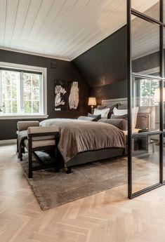 - Lilly is Love Black Bedroom Design, Master Bedroom Design, Bedroom Inspo, Dream Bedroom, Bedroom Wall, Bedroom Decor, Slanted Ceiling Bedroom, Modern Teen Bedrooms, Trendy Bedroom