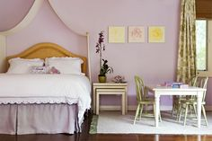 The Color Purple | little girls room layout | table in chairs floating in the room
