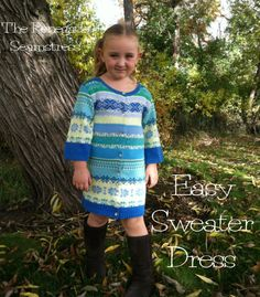 Super Easy Girl's Sweater Dress Refashion | The Renegade Seamstress