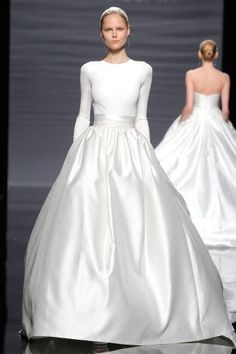"""See the """"Minimalistic and Modern"""" in our Long Sleeve Wedding Dresses, Spring 2014 gallery"""