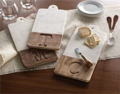 Marble And Wood Cutting Board | Living | Mud Pie