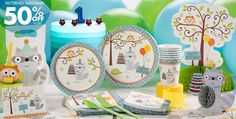 Boy 1st Birthday Party Supplies- Happi Woodland