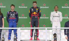 GP BRA 2019 : 8ÈME VICTOIRE EN CARRIÈRE POUR VERSTAPPEN – Prono-formule1.com Aston Martin, Grand Prix, Ferrari, Petronas, Courses, Red Bull, Bra, Baseball Cards, Sports