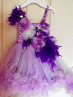 Toddler Feather Tutu dress I made '3 Great for Weddings, Birthday outfits, Special Occasions, Photoshoots