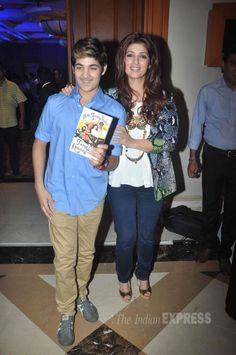 Aarav with mom Twinkle Khanna at Twinkle's book launch. #Bollywood #Fashion #Style #Beauty