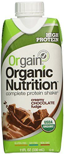 Orgain Creamy Chocolate Fudge, 11-Ounce Container (Pack of 12)(Packaging may vary) *** Details can be found by clicking on the image.