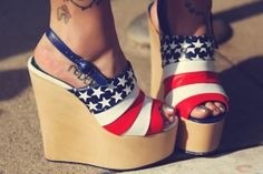 The Cobrasnake Shop x Irregular Choice Sky-High Shoes. The Cobrasnake Shop Branches Out Into Patriotic Footwear.