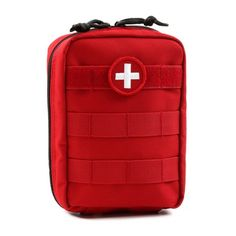 Orca Tactical MOLLE EMT Medical First Aid Pouch (Red)