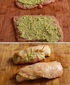 [#trucão] Rolê de frango com pesto