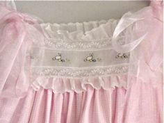 heirloom sewing sundress    Could be cute for a baby gown!