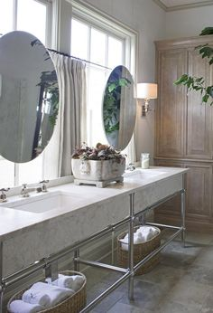Bathroom Details - Interior Walls Designs | mirrors in front of windows