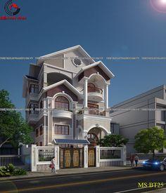 Kiến trúc biệt thự phố 3 tầng đẹp quận Phú Nhuận