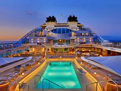 """It's the latest up-market cruise liner in the world -- and the Seabourn Encore has certainly succeeded in its goal """"to feel more like a luxury yacht. Richard Branson, Cruise Travel, Cruise Vacation, Bali Cruise, Cruise Mexico, Cruise Trips, George Clooney, Royal Caribbean, Barack Obama"""