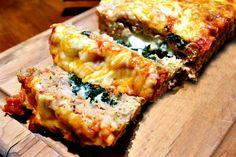Cheesy stuffed Italian chicken meatloaf