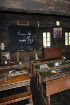 old classroom, historic alpine village, Austria