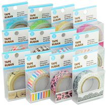 Bulk Decorative Adhesive Paper Craft Tape, 10m Rolls at DollarTree.com