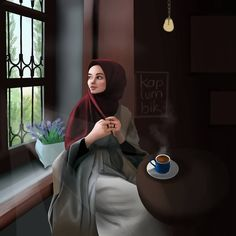 New beautiful art drawings sketches pens ideas Girly Pictures, Pictures To Draw, Portrait Draw, Best Facebook Profile Picture, Hijab Drawing, Drawing Art, Sarra Art, Islamic Cartoon, Anime Muslim