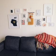 """Liz on Instagram: """"Embracing imperfection and a life in progress...our gallery wall isn't complete but it is hung with art by those whom we love and who inspire us """""""