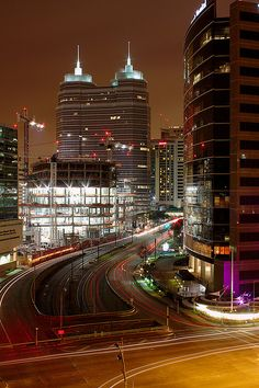 Texas Medical Center at Night, Houston. I used to make many trips to this area when I worked for Blue Sky Couriers.