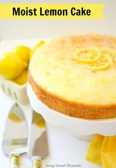 This delicious and tangy Moist Lemon Cake Recipe is easy to make and is perfect for dessert, picnic, and even afternoon tea. Topped with a sweet yummy glaze