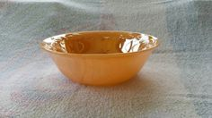 Fire King Laurel peach luster bowl by AllAboutYesteryear on Etsy