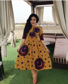 Lovely Ankara Short Gown for You Ladies .Lovely Ankara Short Gown for You Ladies Latest African Fashion Dresses, African Men Fashion, African Dresses For Women, Africa Fashion, African Attire, African Wear, African Women, Latest Fashion For Women, Men's Fashion