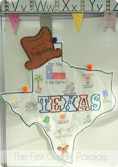 First Grade Parade: Texas Symbols Anchor Chart 3rd Grade Social Studies, Kindergarten Social Studies, Social Studies Activities, Teaching Social Studies, Teaching History, Classroom Activities, In Kindergarten, Classroom Ideas, History Classroom
