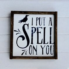 Fall Decor  I Put A Spell On You  Hand Painted  Wood by GetSwank