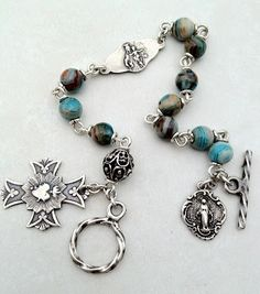 All Beautiful Catholic Beads: Past Rosary Bracelets Gallery