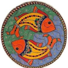 Madhubani Art, Madhubani Painting, Buddha Canvas, Cold Porcelain Flowers, Cd Crafts, Indian Folk Art, Acrylic Colors, Tribal Art, Plates On Wall