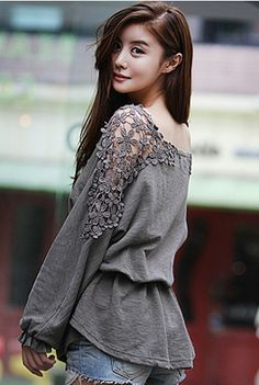 Today's Hot Pick :Lace Shoulders Drawstring Waist Blouse http://fashionstylep.com/SFSELFAA0001468/happy745kren/out High quality Korean fashion direct from our design studio in South Korea! We offer competitive pricing and guaranteed quality products. If you have any questions about sizing feel free to contact us any time and we can provide detailed measurements.